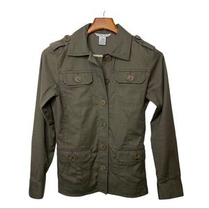 CABI Military Jacket Style #493 Dark Green Size XS